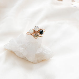 Tiny Gemstone Stacker Ring