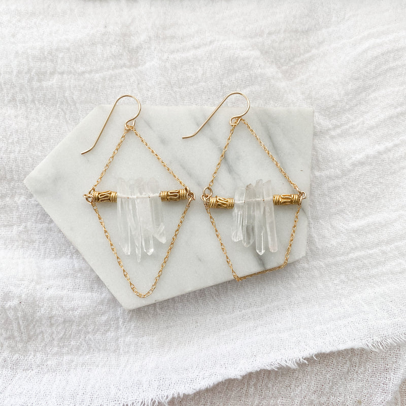 Crystal Beaded Boho Earrings