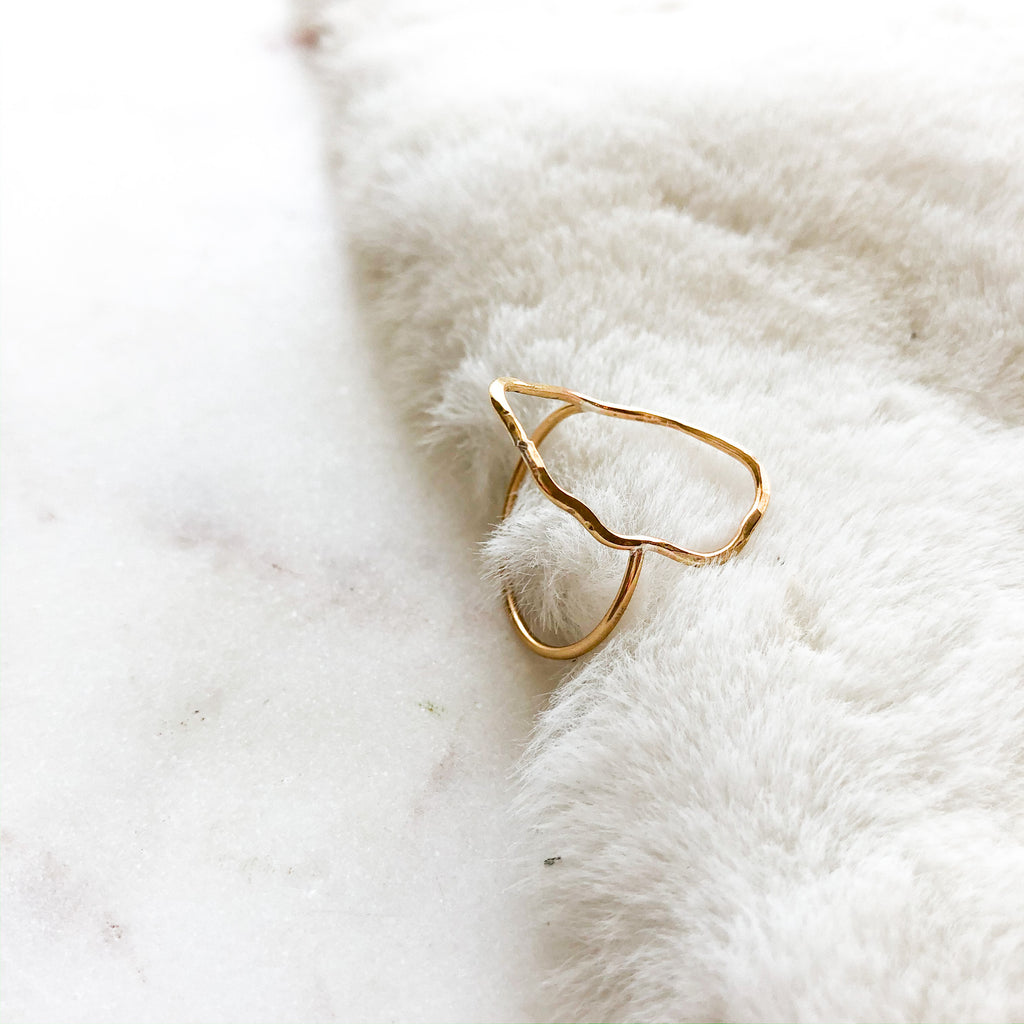 Squiggle Ring - size 7.5
