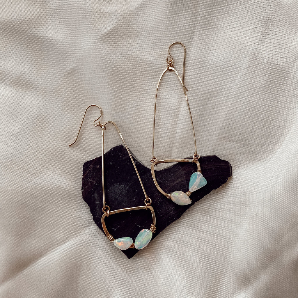 Rapid Falls Opal Earrings