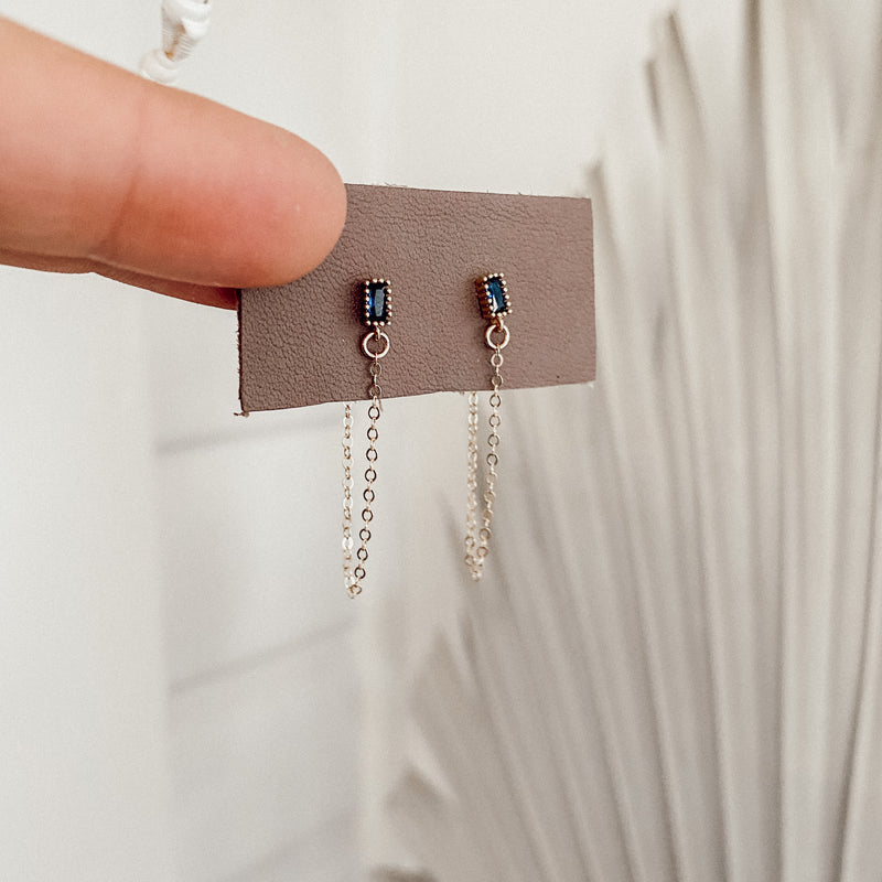 Midnight Chain Earrings
