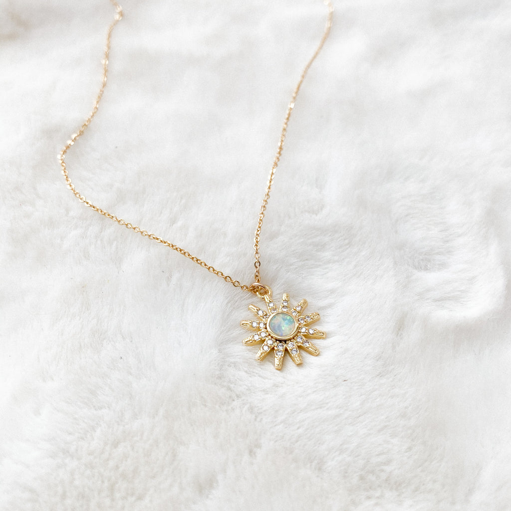Opal Sun Layering Necklace