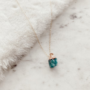 Neon Apatite Layering Chunk Necklace - Gypset