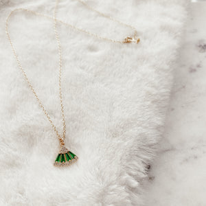 Green Deco Layering Necklace - Gypset