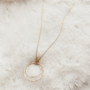 Double Circles Layering Necklace - Gypset
