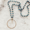 Crystal Skies Rosary Layering Necklace - Gypset