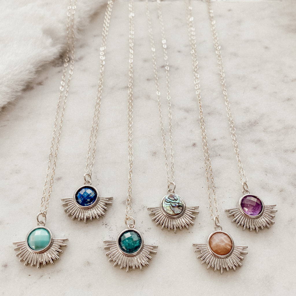 Silver Sun Layering Necklace - Gypset