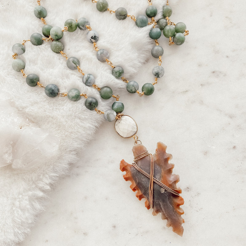 Arrowhead Rosary Necklace - Gypset