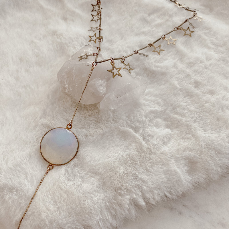 Opalite Stars Necklace - Gypset