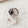 Vintage Silver Rose Ring - Gypset