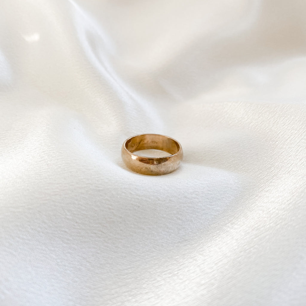 Vintage 14k gold fill wedding band