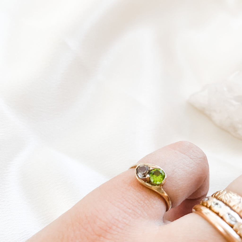 SOLID GOLD Vintage Peridot Ring