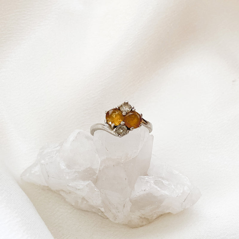SOLID GOLD Vintage Yellow Sapphire Ring