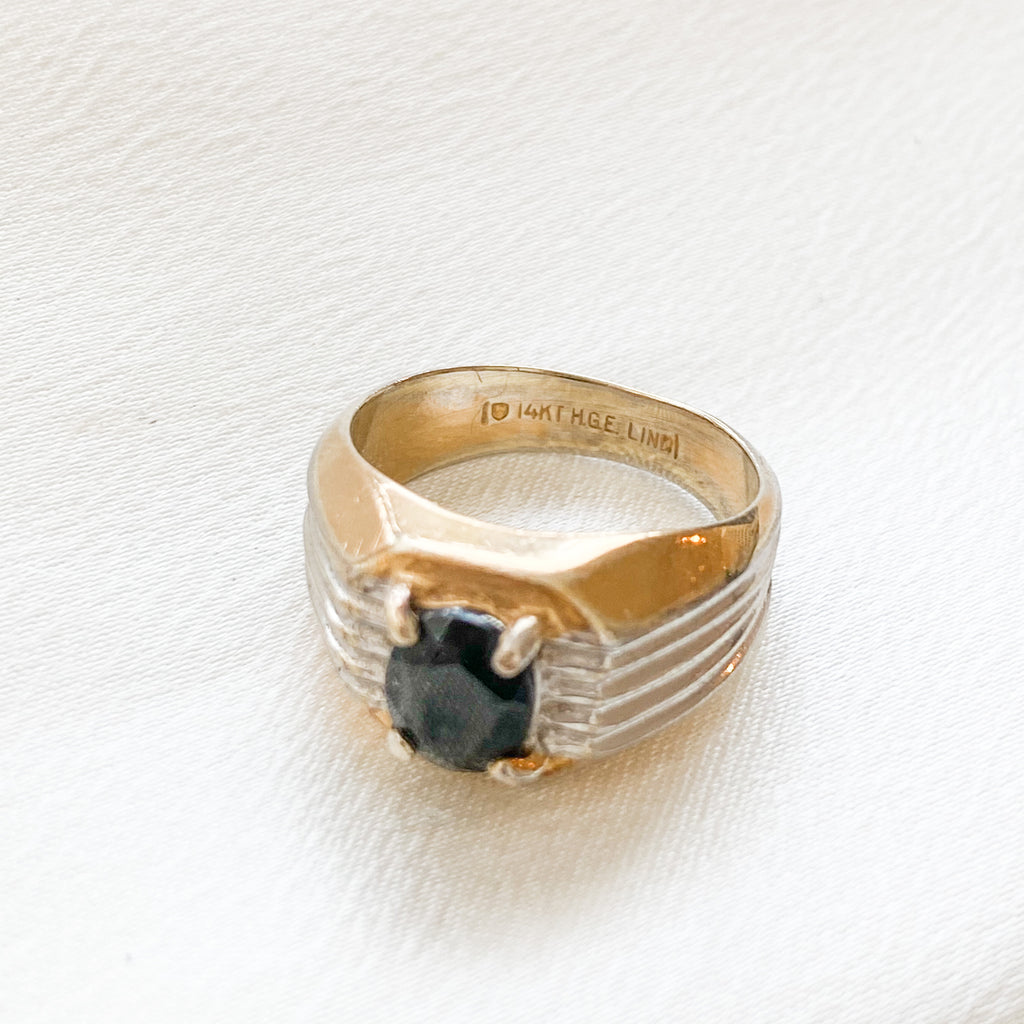 Vintage Onyx Statement Ring