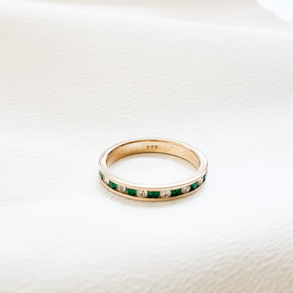 Vintage Dainty Gemstone Band Ring