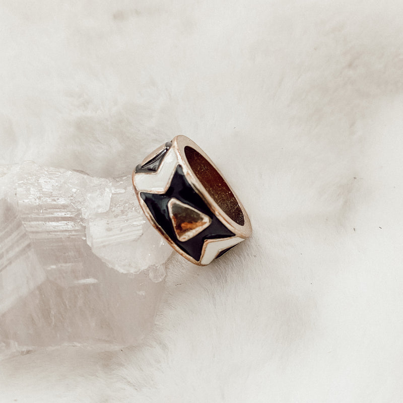 Vintage Enamel Thick Band Ring - Gypset