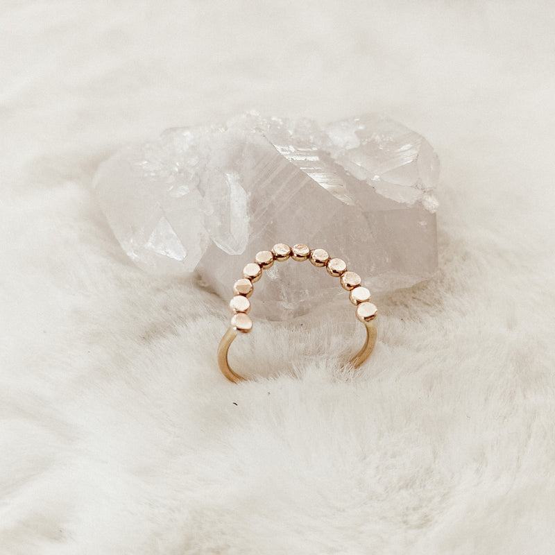 Dotted Arc Stacker Ring - Gypset