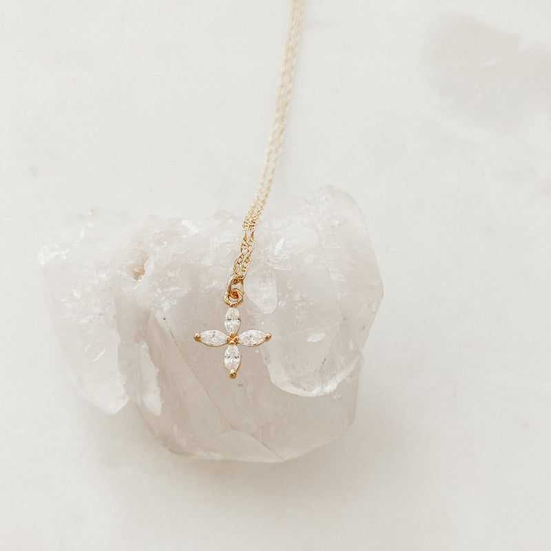Crystal Flower Layering Necklace