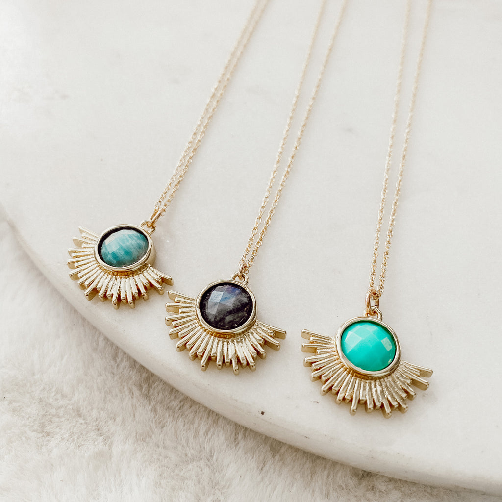 Gold Sun Layering Necklace