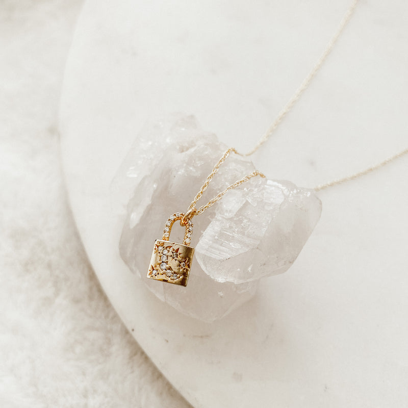 Celestial Lock Layering Necklace