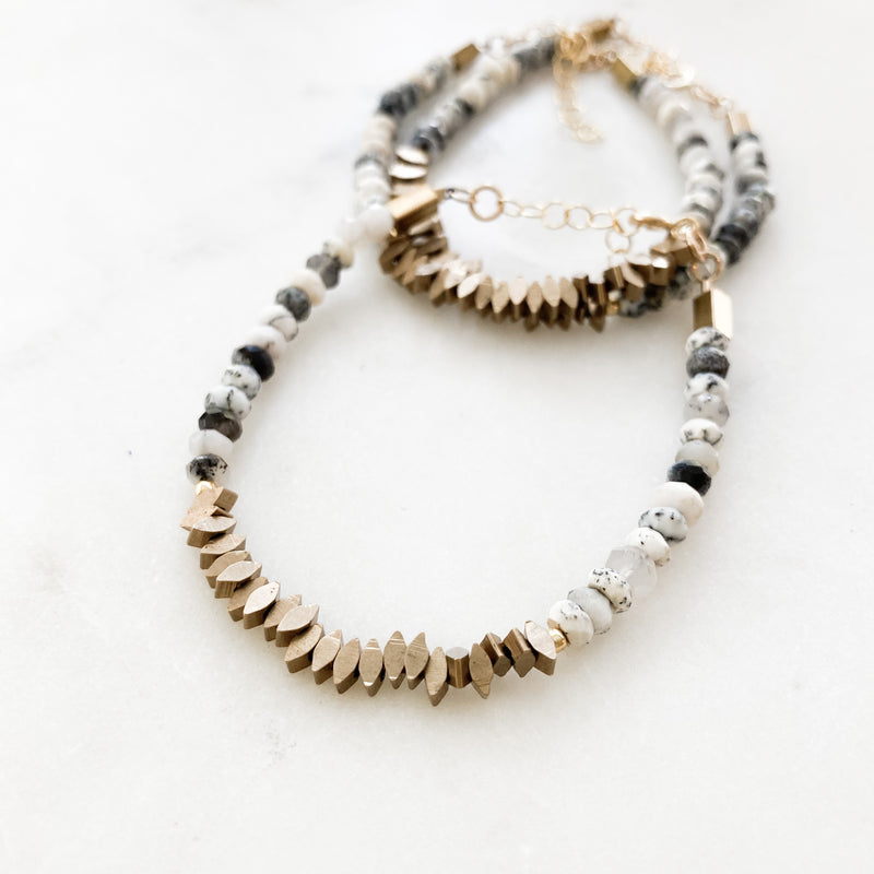 Dendritic Opal Beaded Bracelet