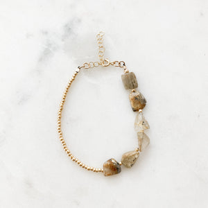 Raw Citrine Beaded Bracelet
