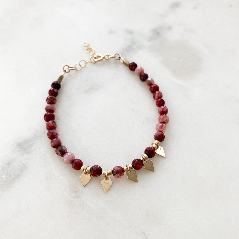 Rosey Spikes Beaded Bracelet