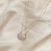 Crisscross Moonstone Necklace