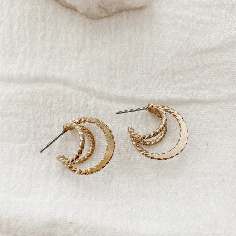 Vintage Wire Hoop Earrings