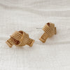 Vintage Croissant Weave Earrings