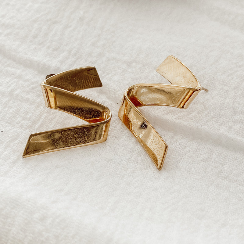 Vintage Zig Zag Earrings