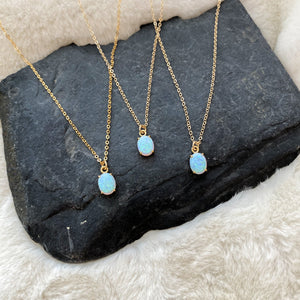 Tiny Opal Necklace - Gypset