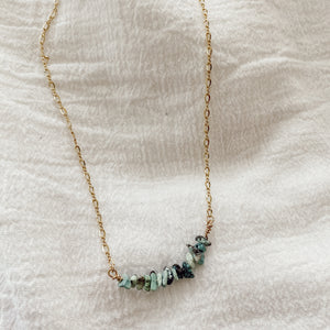Turquoise Chip Choker Necklace