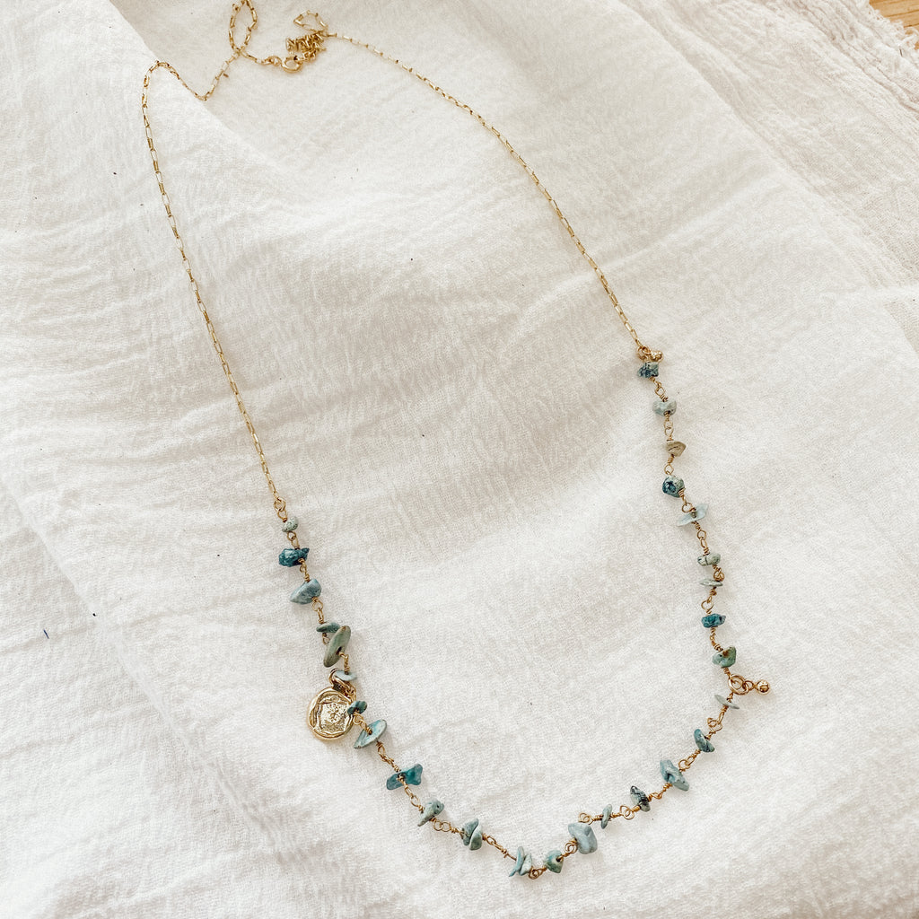 Ocean Deep Rosary Necklace