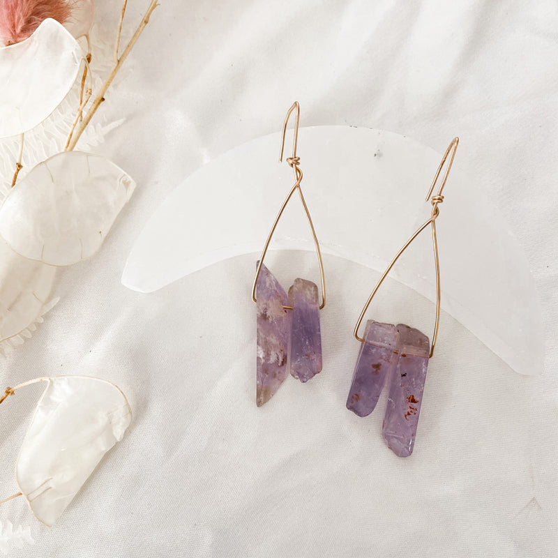 Amethyst Peak Earrings