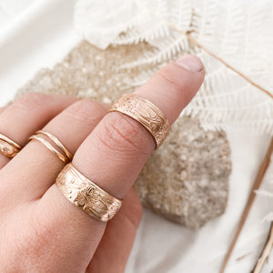 Golden Girl Floral Stacker Ring