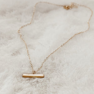 Golden Brick Layering Necklace