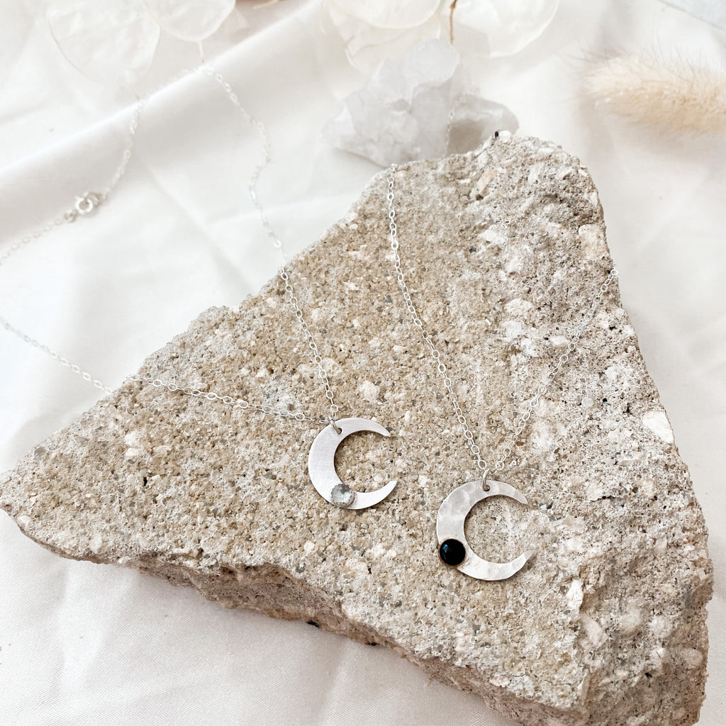 I love you to the moon - silver - Necklace