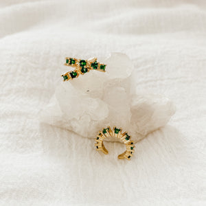 Emerald Ear Cuffs