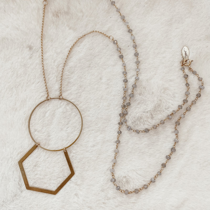 Geometric Rosary Necklace