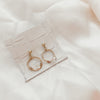 Mini Salinas | Herkimer Diamond Hoop Earrings