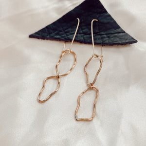 Rose Gold Abstract Earrings