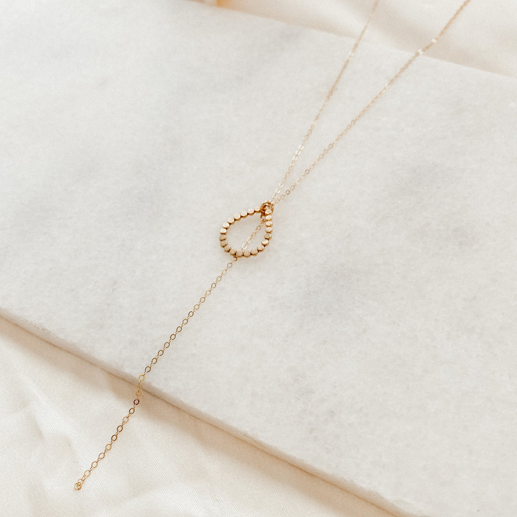 Raindrop Lariat Necklace