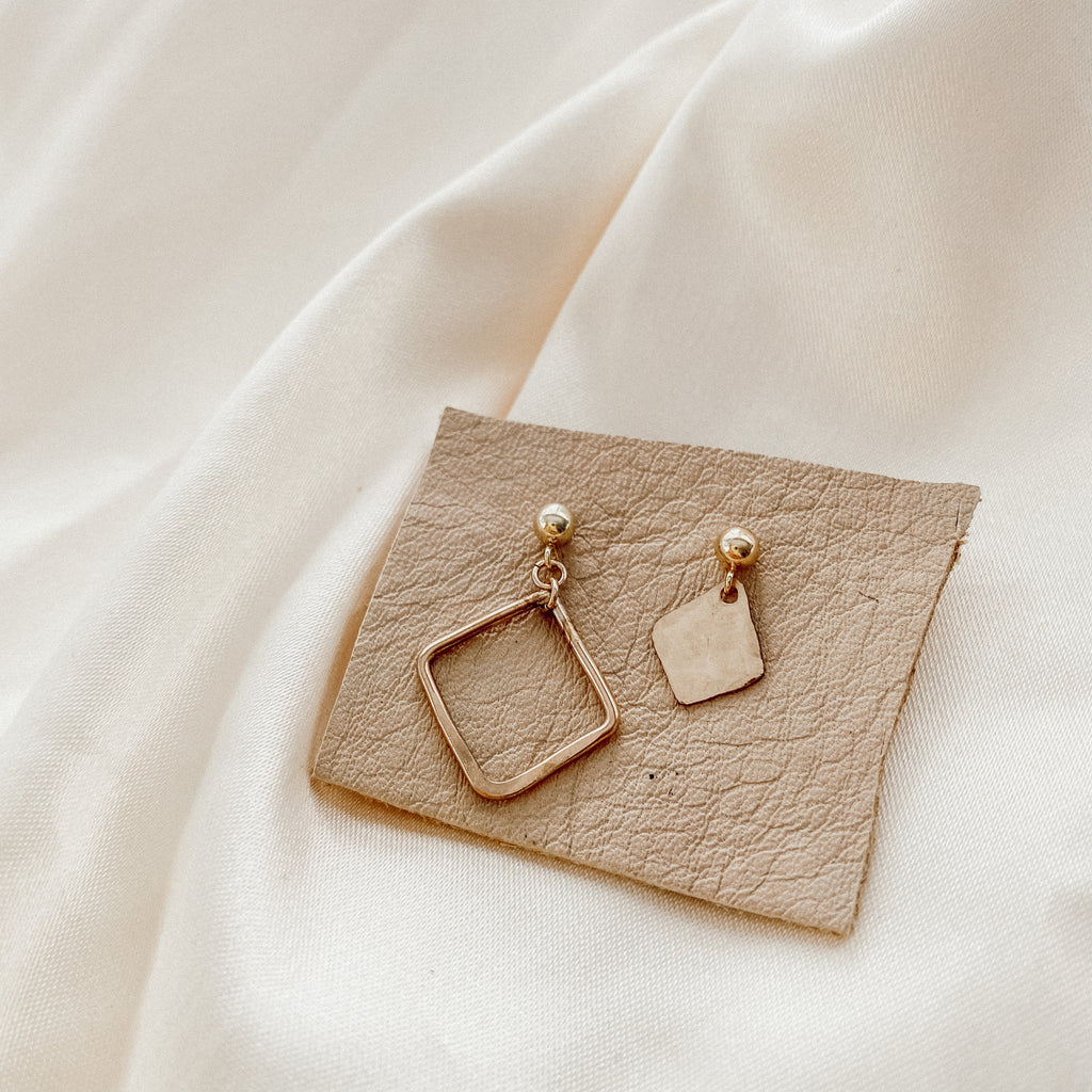 Geometric Mismatched Earrings