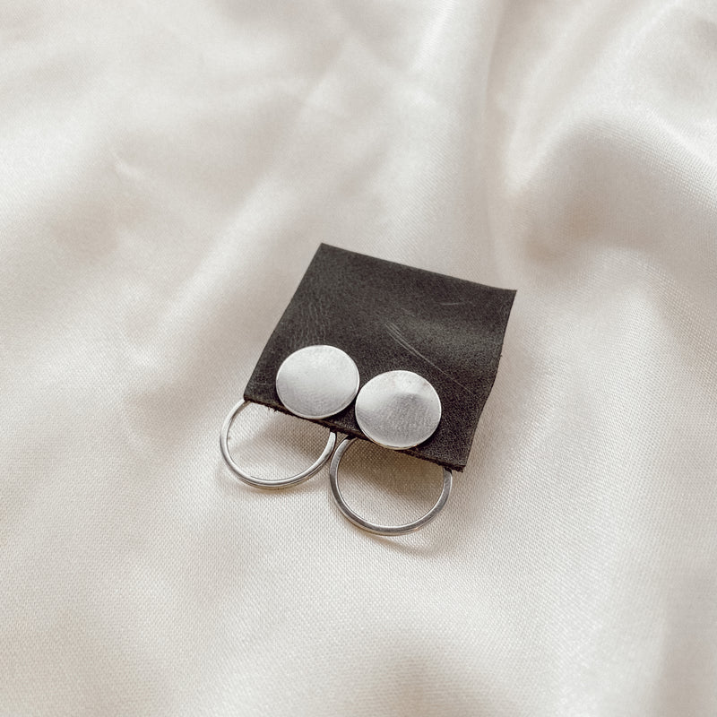 Silver Inner Circle Earrings