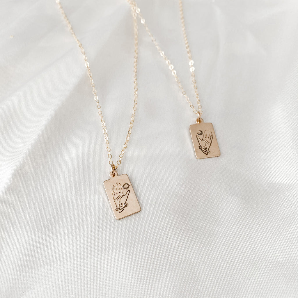 Sun + Moon Stamp Layering Necklaces