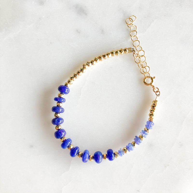 Blue Opal Beaded Bracelet - Gypset