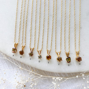 Vintage Gemstone Layering Necklaces