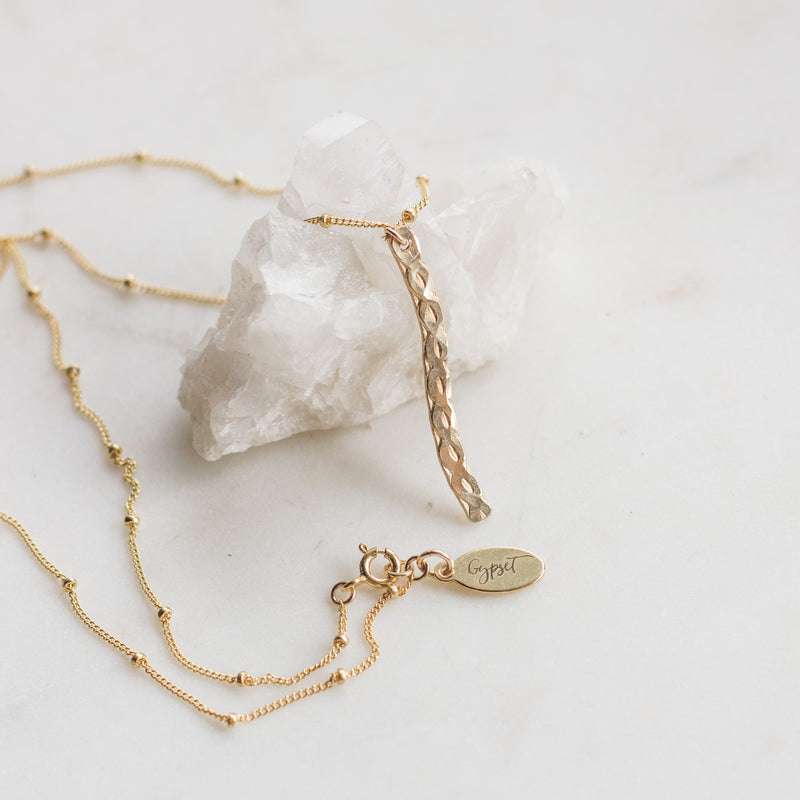 Serpentine Gold Layering Necklace - Gypset