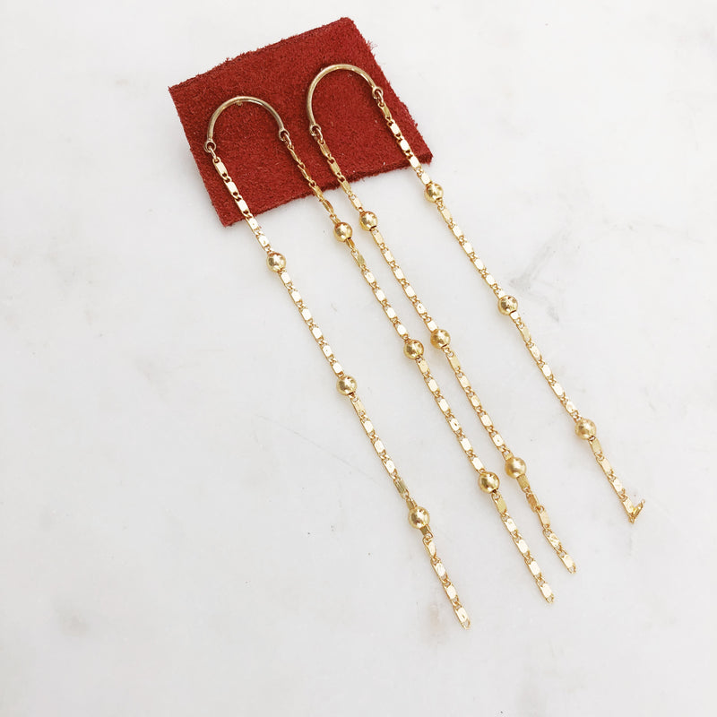 Raining Gold Duster Earrings